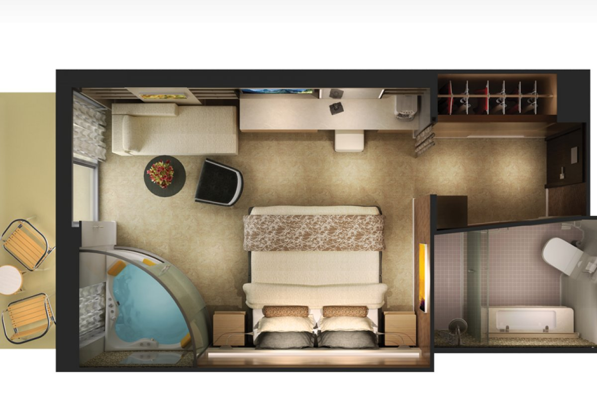 The Haven Spa Suite - plan