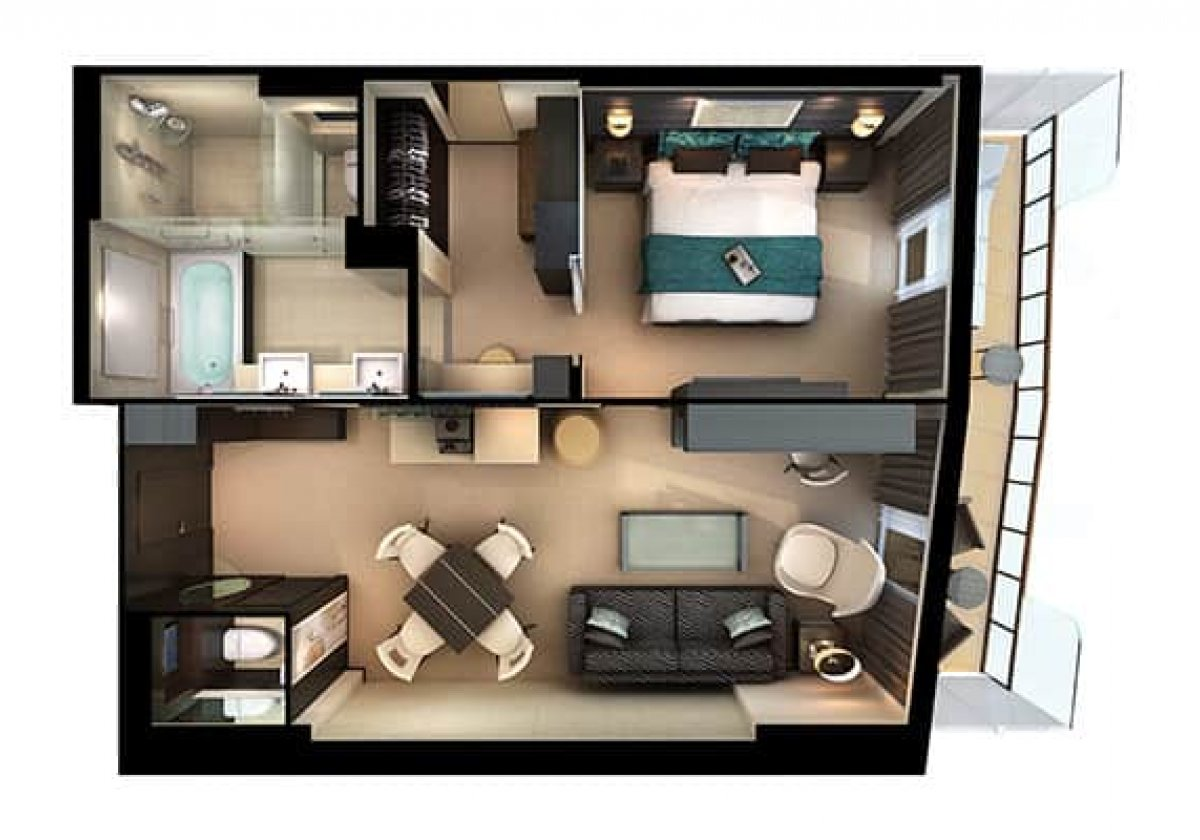 The Haven Owner's Suite - plan